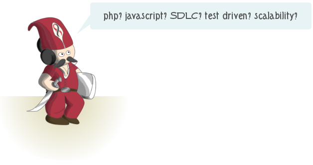 php, javascript, SDLC, test driven, scalability?
